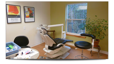 One of the dental stations at our new office